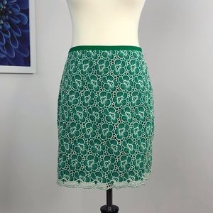 NWT J Crew Floral Embroidery Flounce Skirt